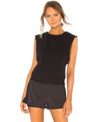 Free People - Movement New Whitewater Hoodie In Black - Lyst