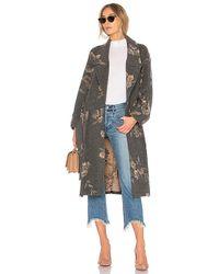 Rebecca Taylor - Jacquard Coat In Gray - Lyst