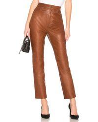 LPA - Leather Straight Leg Trousers - Lyst