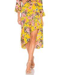 Band Of Gypsies - Chrysanthemum Ni-lo Skirt In Mustard - Lyst