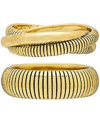 Luv Aj - The Snake Chain Cigar Rings In Metallic Gold - Lyst