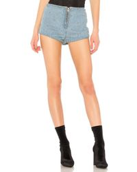 Urban Outfitters - Studded Denim High Waist Short - Lyst
