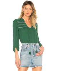 Michael Stars - Embroidered Peasant Top - Lyst