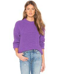 Callahan - X Revolve Shaker Boyfriend Sweater In Purple - Lyst