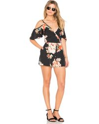 Band Of Gypsies - Large Floral Playsuit - Lyst