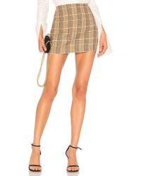 Alice + Olivia - Elana Mini Skirt In Brown - Lyst