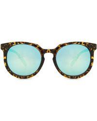 c013ac68d9 Gafas de sol espejadas oversize Balenciaga de color Azul - Lyst