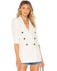 L'Agence - Brea Blazer In White - Lyst