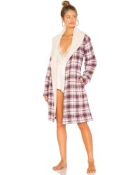 UGG - Anika Flannel Robe In Red - Lyst