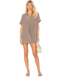 Acacia Swimwear - Mombasa Shirt Dress In Brown - Lyst