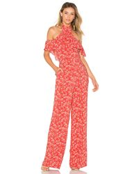 Ále By Alessandra - X Revolve Matilde Jumpsuit In Red - Lyst