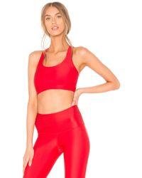Strut-this - Kinzie Sports Bra In Red - Lyst