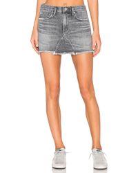 Agolde - Jeanette Mini Skirt - Lyst