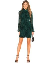 A.L.C. - Nadia Animal-print Velvet Burnout Dress - Lyst