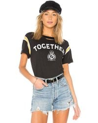 Pam & Gela - Football Stripe Short Sleeve Tee In Black - Lyst