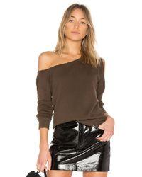 RTA - Willow One Shoulder Sweatshirt - Lyst