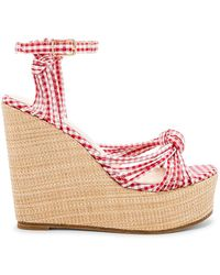 RAYE - Gina Wedge In Red - Lyst