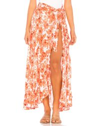 Tiare Hawaii - Azure Wrap Skirt - Lyst