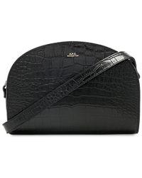 A.P.C. - Demi Lune Bag In Black. - Lyst