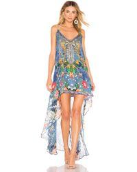 Camilla - Flared Mini Dress In Blue - Lyst