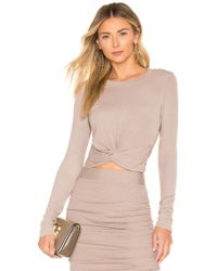 Lamade - Kyli Crop Top In Taupe - Lyst