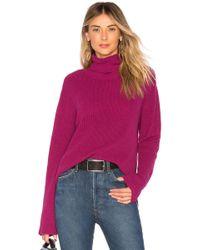 Callahan - X Revolve Turtleneck Jumper In Purple - Lyst