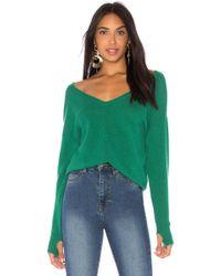 27milesmalibu - Charline Sweater In Green - Lyst
