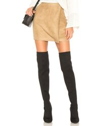 BCBGeneration - A Line Faux Suede Skirt - Lyst