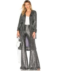 Alexis - Niecy Coat In Metallic Silver - Lyst