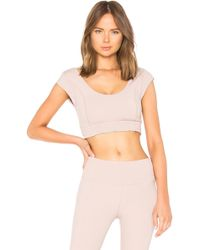 Free People - Movement Starlight Crop Top In Mauve - Lyst