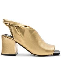 Sigerson Morrison Woman Lenny Twisted Suede Slingback Mules Gold Size 5 Sigerson Morrison c38Jv4Xx