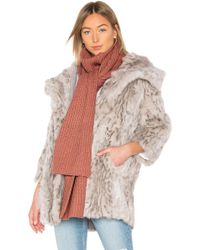 Michael Stars - Cable Knit Mock Neck Scarf In Rose. - Lyst