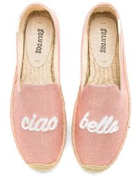 Soludos - Ciao Bella Smoking Slipper In Pink - Lyst