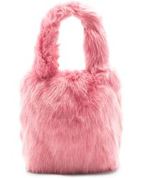 Charlotte Simone - Pop Faux Fur Tote In Pink. - Lyst