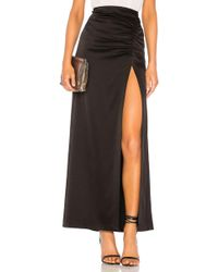 Alice + Olivia - Diana Ruched Satin Maxi Skirt - Lyst