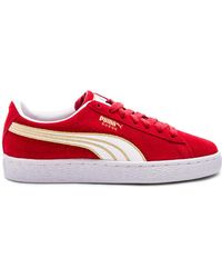 PUMA - Suede Varsity Trainer In Red - Lyst