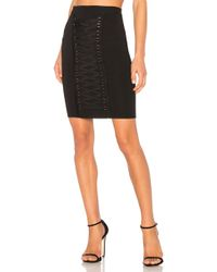Endless Rose - Knitted Pencil Lace Up Front Skirt - Lyst