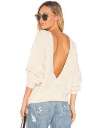 Callahan - X Revolve Shaker V Back Sweater In Cream - Lyst