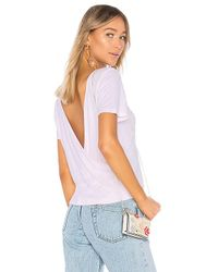 Monrow - Tee With Crossover Back In Pink - Lyst