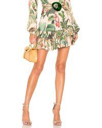 PATBO - Paradise Print Ruffle Mini Skirt - Lyst