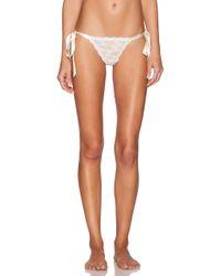 Hanky Panky - Peek-a-boo Lace Side Tie Panty In White - Lyst