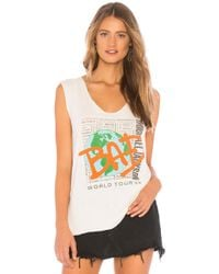 Junk Food - Michael Jackson Bad World Tour Tank In Ivory - Lyst