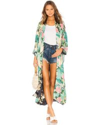 Spell & The Gypsy Collective - Nightingale Reversible Maxi Kimono In Blue - Lyst
