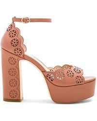 Rachel Zoe - Jenelle Platform Sandal In Brown - Lyst