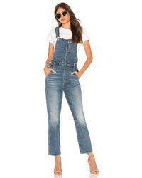 7 For All Mankind - Edie Overall In Blue - Lyst