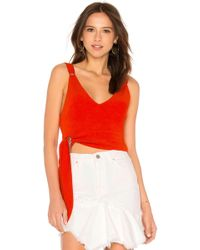 Free People - Paisley Pop Tank In Red - Lyst