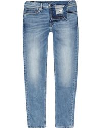 River Island - Pepe Jeans Luke Slim Fit Tapered Jeans - Lyst