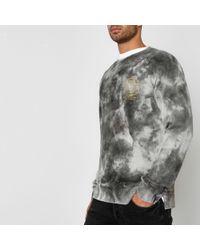Jack & Jones - Tie Dye Crew Sweatshirt - Lyst