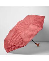 River Island - Red Polka Dot Print Duck Umbrella - Lyst