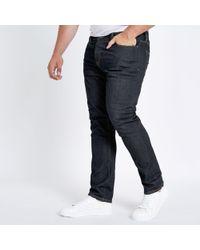 River Island - Big And Tall Dark Seth Slim Fit Jeans - Lyst